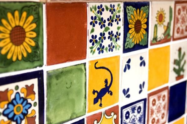 17012013 les azulejos mexicains faence colore et dcore - Faience Coloree Cuisine